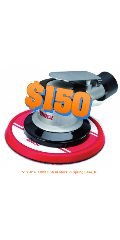 "5"" x 3/16"" Orbit PSA in stock in Spring Lake, MI"